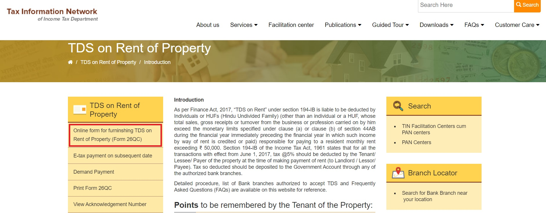 TIN_NSDL_Select_Form26QC