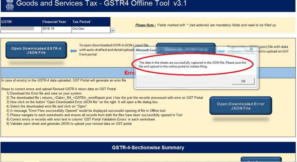 GSTR 4-Generate-Json