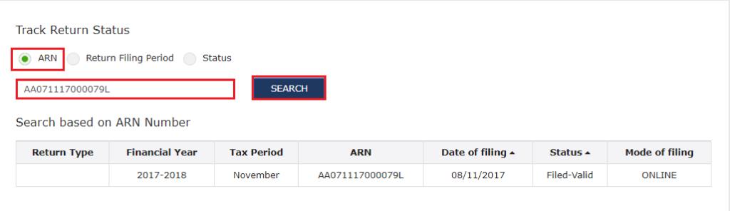 Track GST Return Status_GST Portal