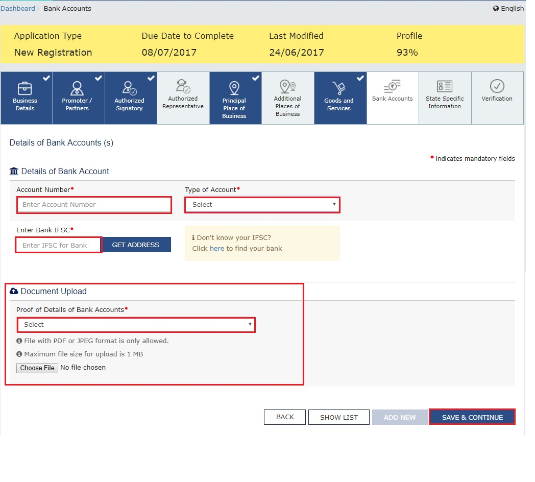 GST Registration Process   GST Portal   Bank_Accounts