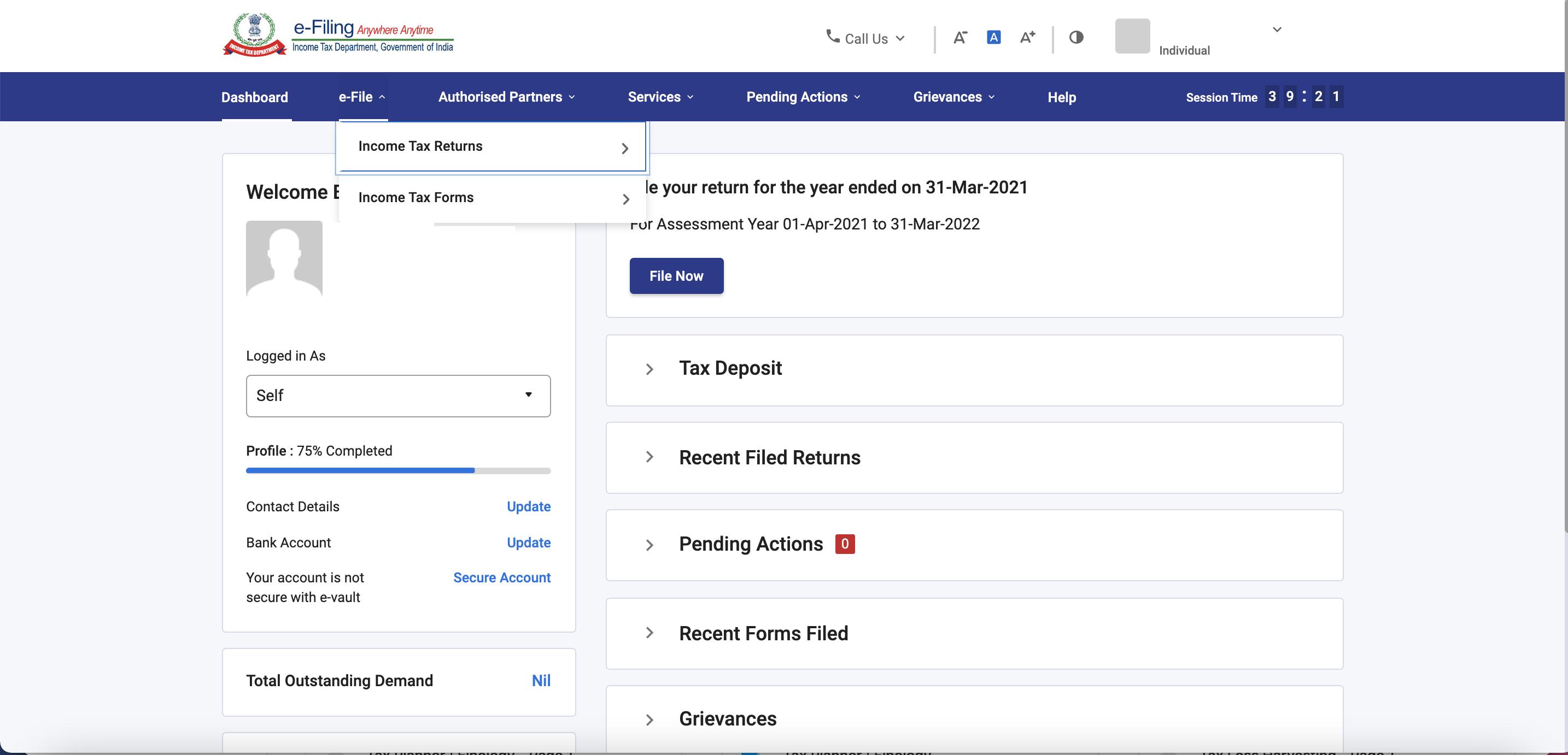 www.incometax.gov.in - Income Tax Return