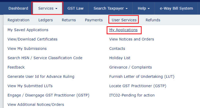 GST-Portal-Naviagtion-to-My-Applications