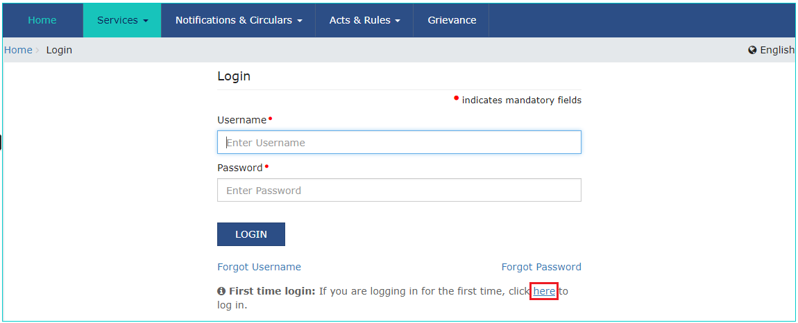 Login-GST-Portal
