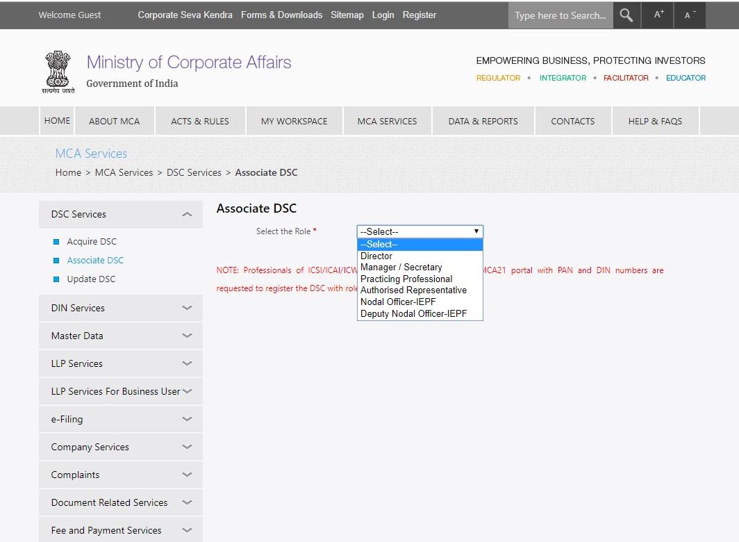 MCA-Associate-DSC-Select-the-Role