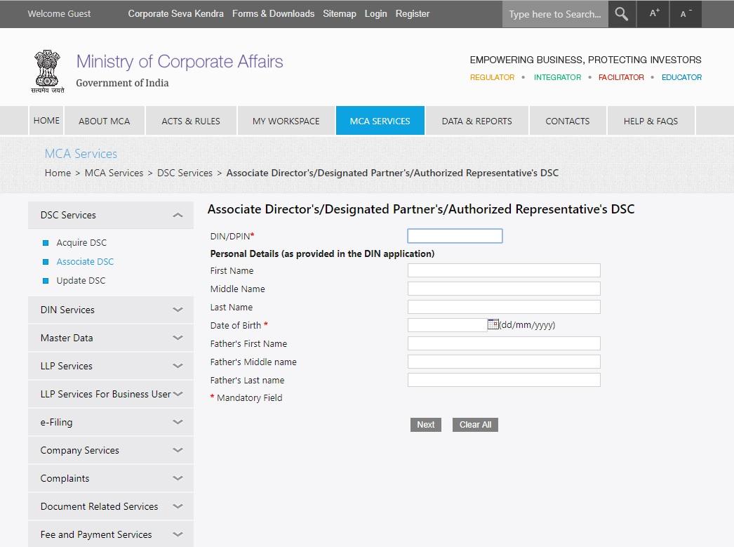 MCA-Associate-DSC-Add-details (1)