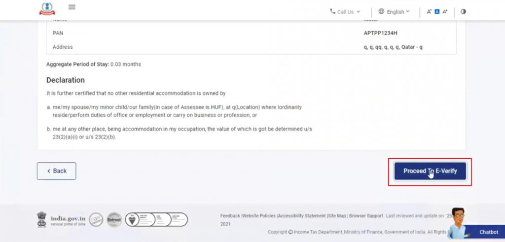 www.incometax.gov.in - e-Verify Uploaded Form