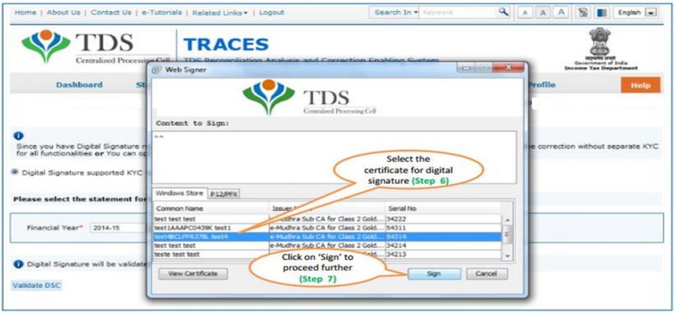TRACES - Select DSC