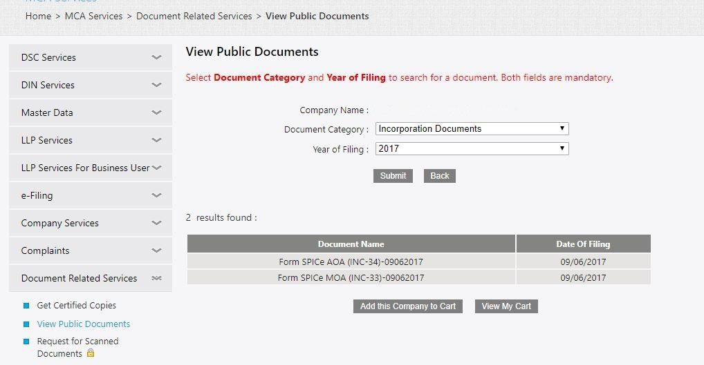 MCA-Portal-List-Public-Documents