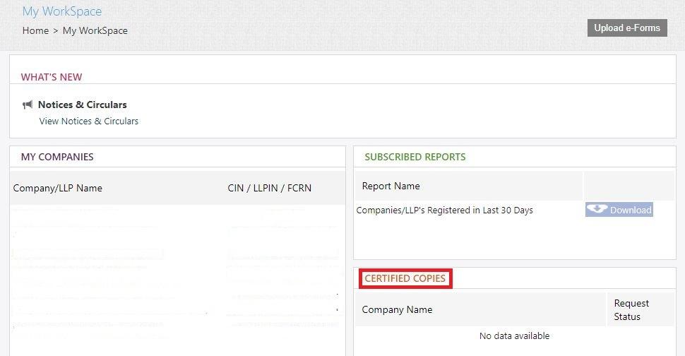 MCA-Portal-Get-Certified-Copies-My-Workspace