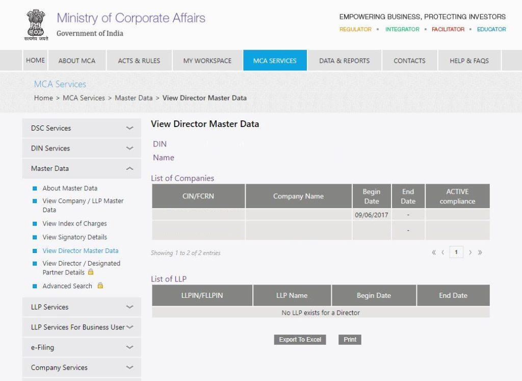 MCA-Portal-View-Director-Master-Data-Director-Details