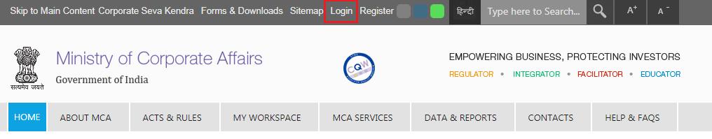 MCA-Portal-Homepage
