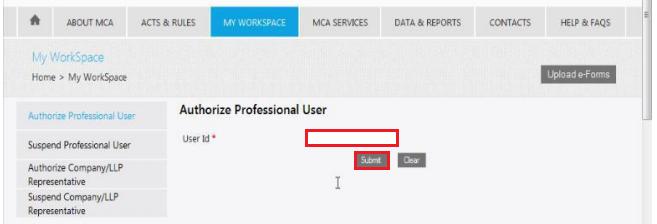 MCA-Portal-Enter-User-ID