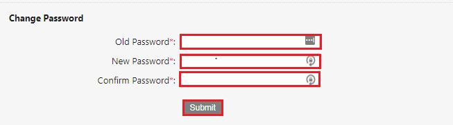 MCA-Portal-Change-Password-Page
