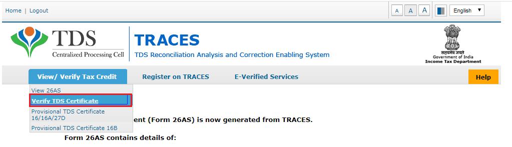 TRACES - Dashboard