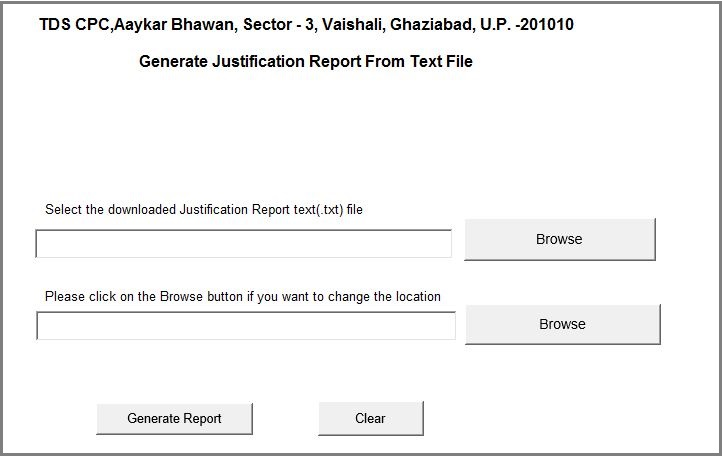 TRACES - Download Justification Report in Excel