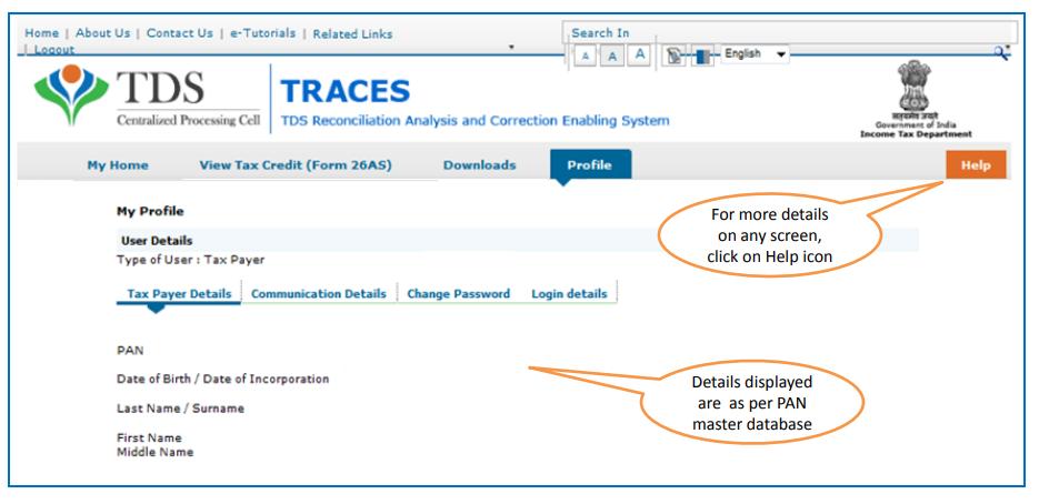 TRACES - Profile
