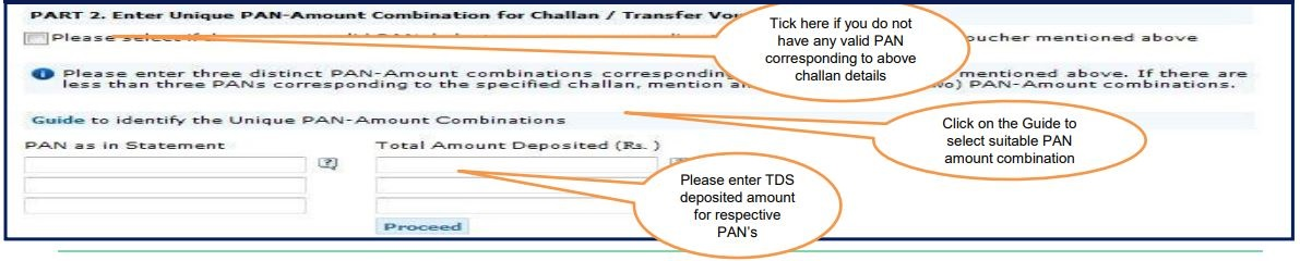TRACES - Registration_Enter PAN-Amount details