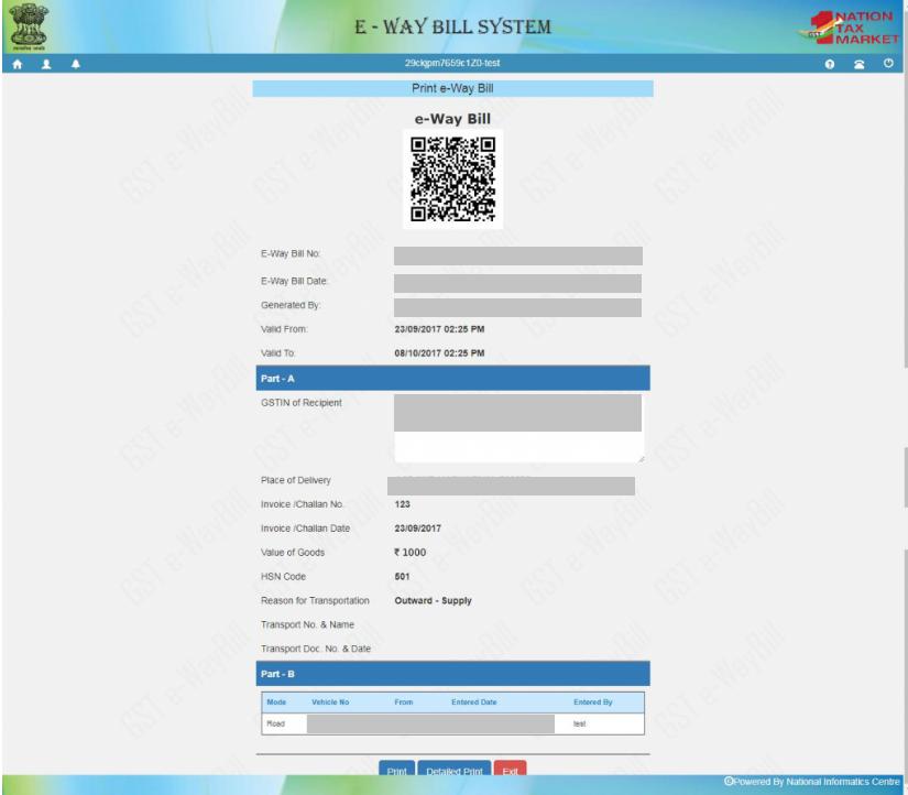 e-Way Bill - EWB-01 Form