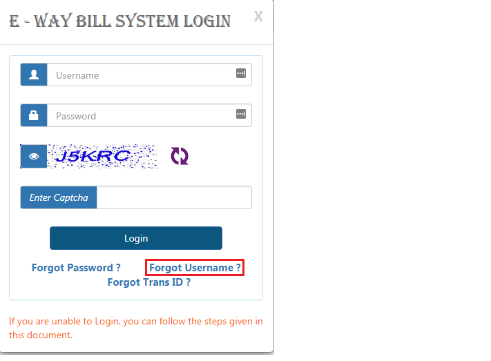 e-Way-Bill-Login-Page