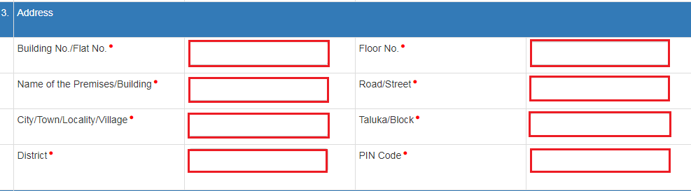 e-Way Bill Portal - Address Details