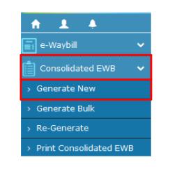 e-Way Bill Portal - Dashboard