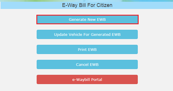 e-Way Bill Portal - Generate New EWB