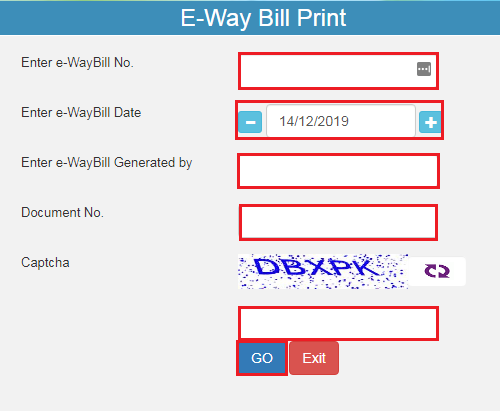 e-Way Bill Portal - Print Page