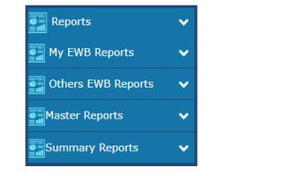 e-Way Bill Portal - Reports Drop-Down List
