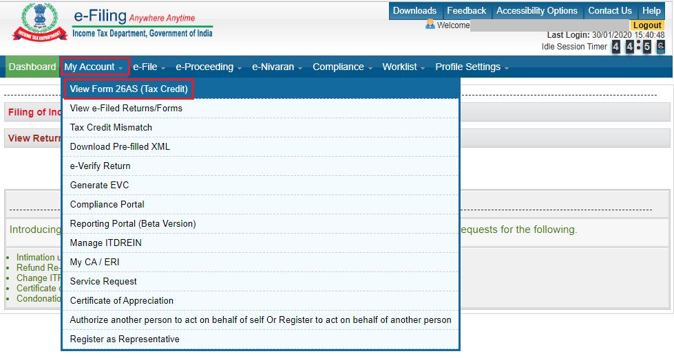 Form 26AS e-filing