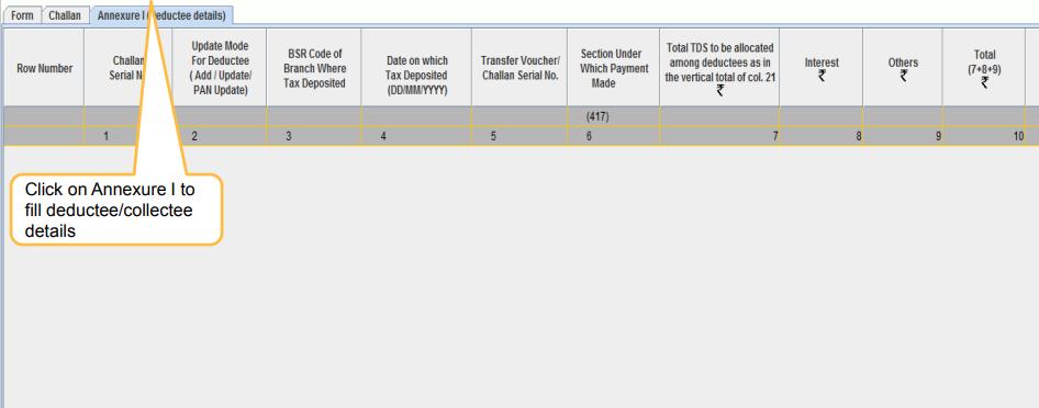 RPU - Annexure Deductee Details
