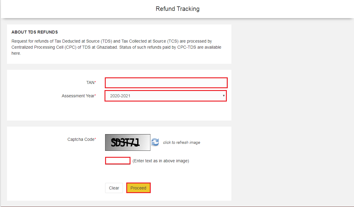 TIN-NSDL - Refund Tracking