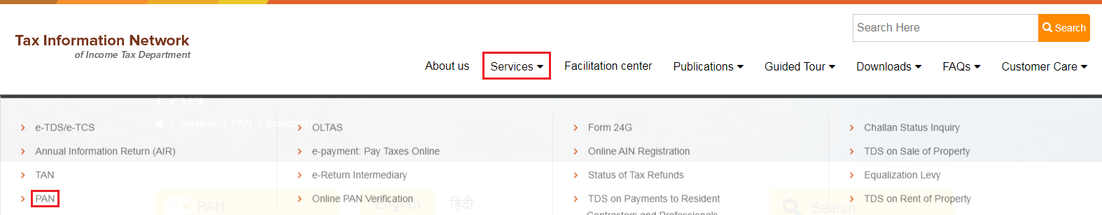 TIN-NSDL - TAN Services