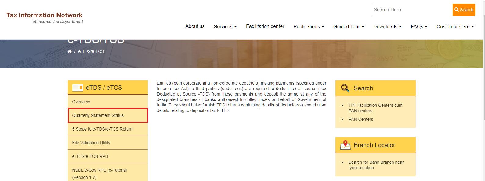 TIN-NSDL - eTDS or eTCS
