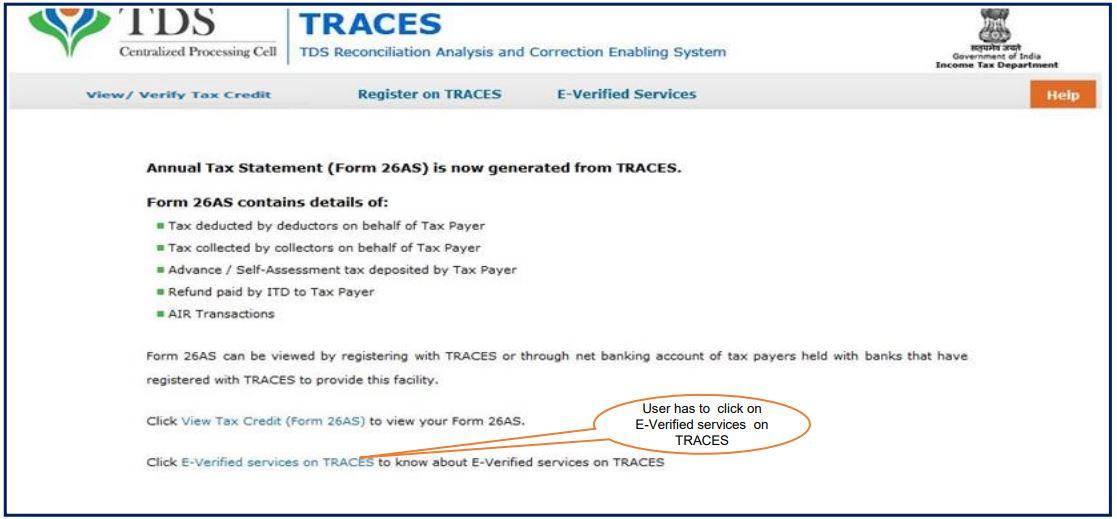 TRACES - Form 26QB / 26QC Correction E-Verify - E-Verified Services on TRACES