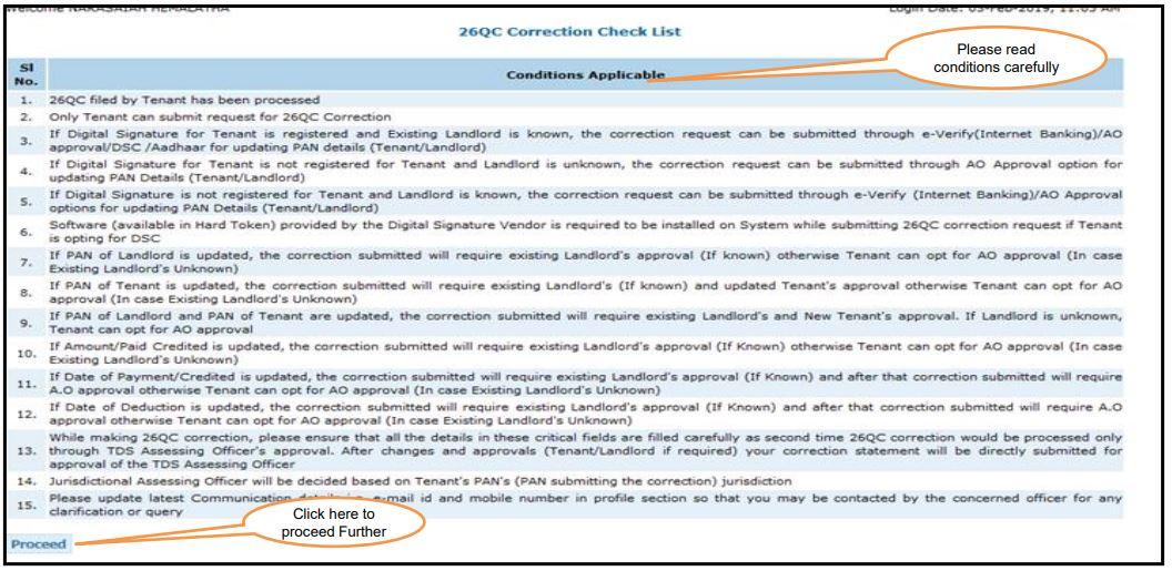 TRACES - Form 26QC Correction - Review Checklist