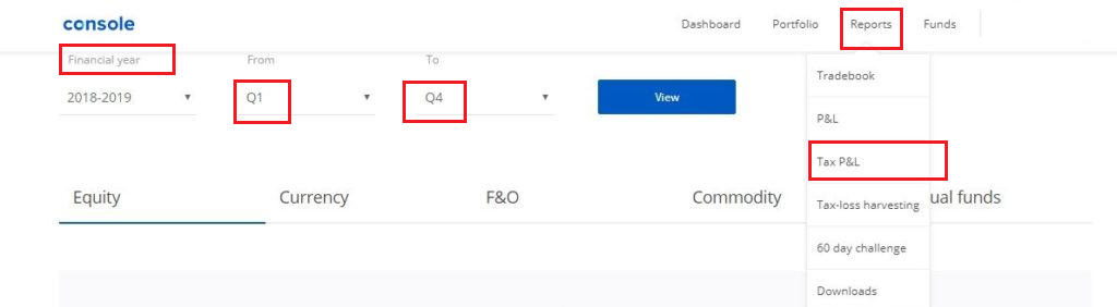 Zerodha reports detail