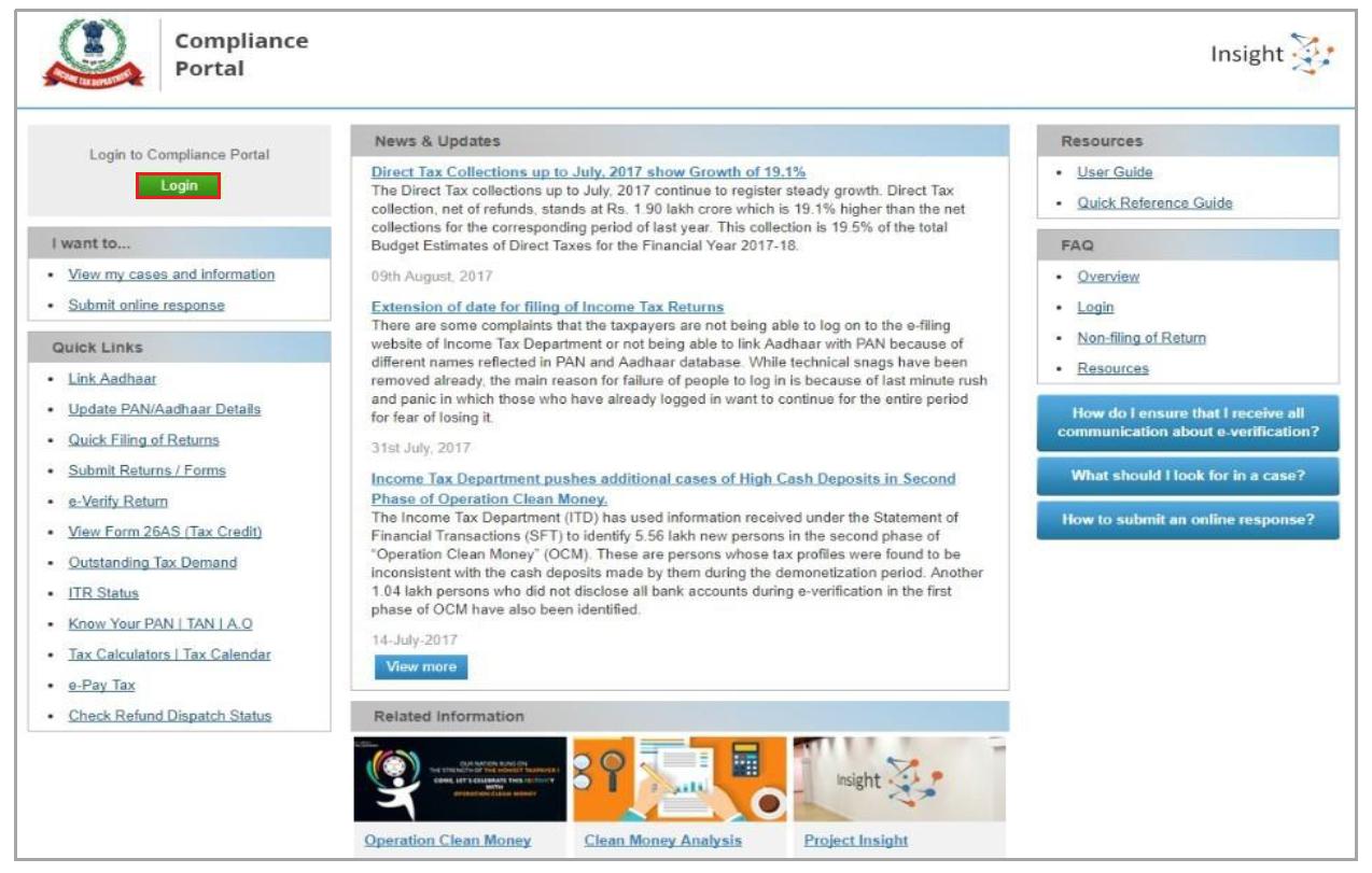 Compliance Portal - Login