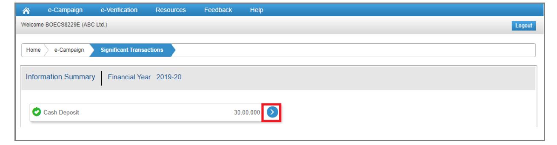 Compliance Portal - Information Details Navigation
