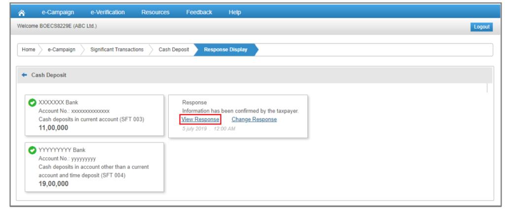 Compliance Portal - View Response