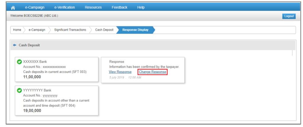 Compliance Portal - Change Response