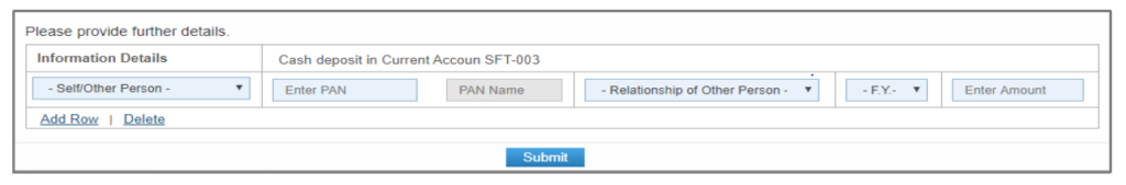Compliance Portal - Submission Response Option
