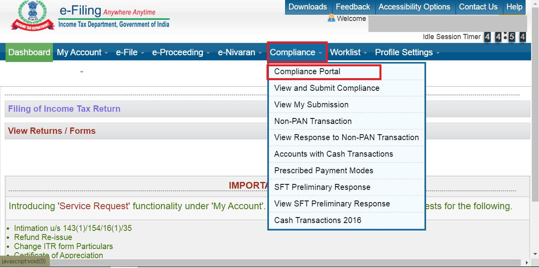compliance portal ITD