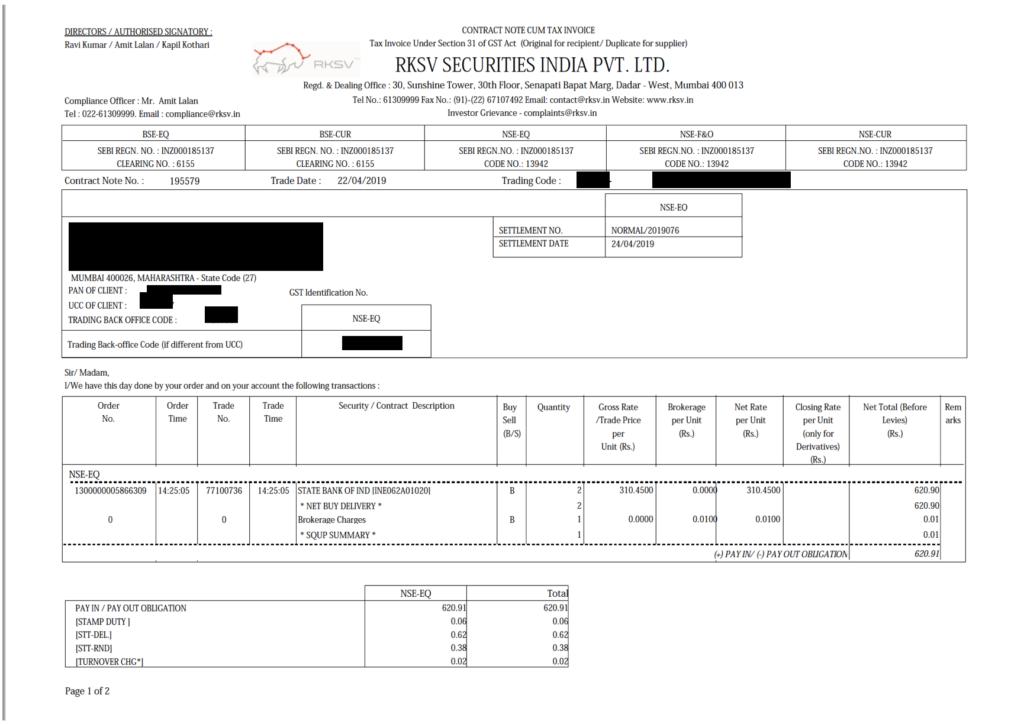 upstox contract note