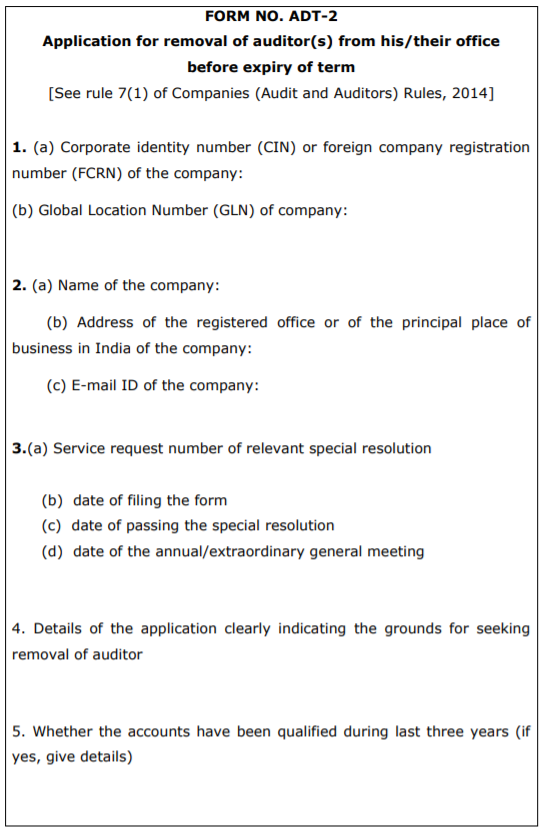 Form ADT-2 Template