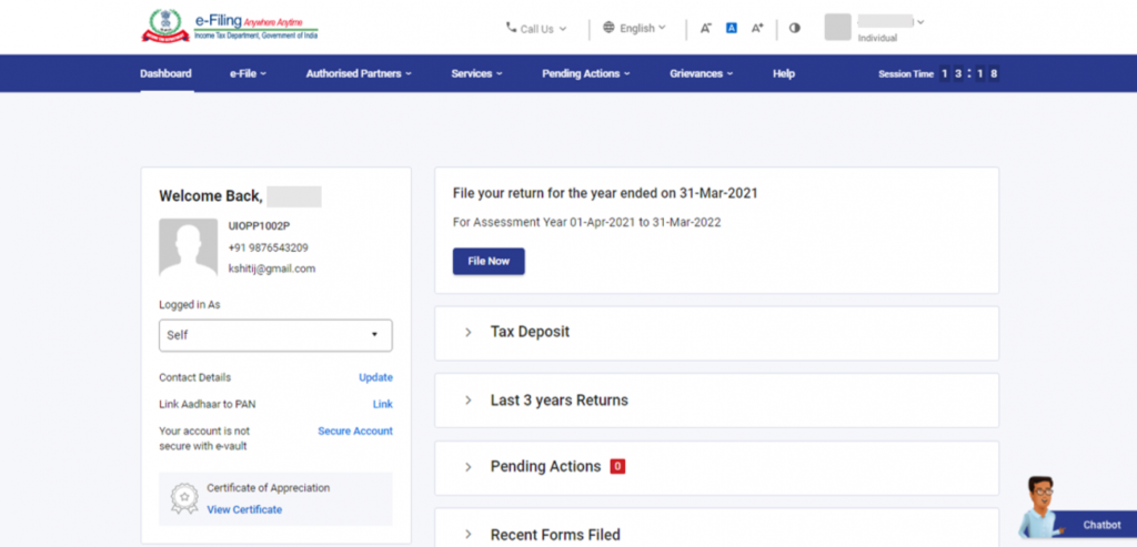 www.incometax.gov.in - Use Net Banking to e Verify ITR