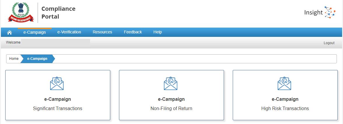 Compliance Portal - e-Campaign