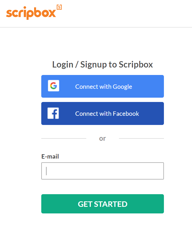 create account on scripbox