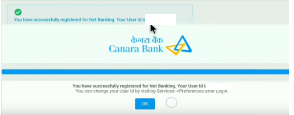 canara bank net banking registration