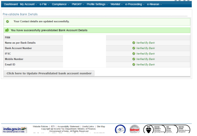 canara bank online e-verify