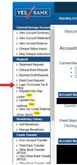 Select Login to Income Tax E-filing